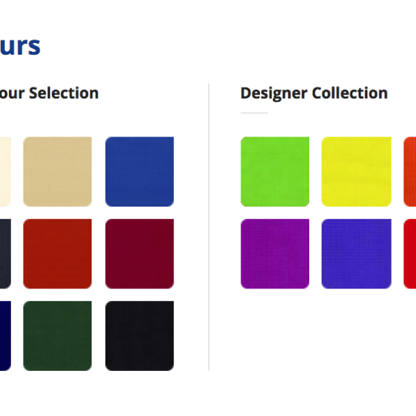 Designer architectural shade fabric available in many colors