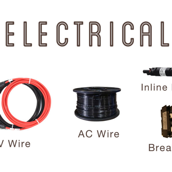 Electrical, wire, fuse, breakers #indiesolar #renewableenergy #solarworld #solarpower