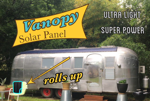 Vanopy Solar Panel #indiesolar #vanopy #solarpower #nomadlife #rvlife #solarpanel #airstream #solardesign