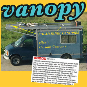Solar Panel Offgrid RV Electric System + Commercial Battery Flexible Solar Power, Awning & Canopy #vanlife #solarpanels #rvsolar #indiesolar ig @indiesolar